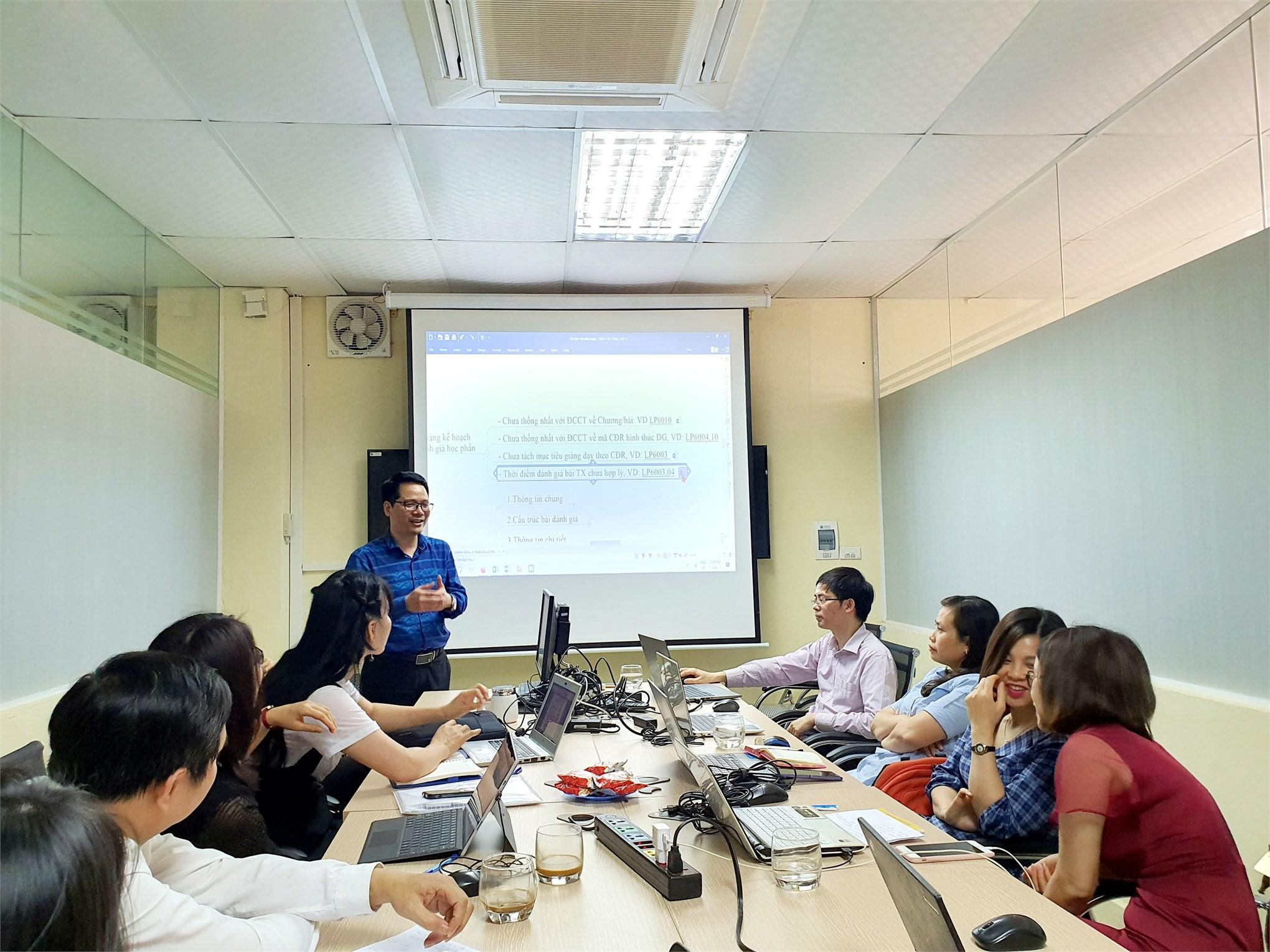 Khoa lý luận Chính trị - Pháp luật và Trung tâm khảo khí thống nhất về việc đánh giá học phần