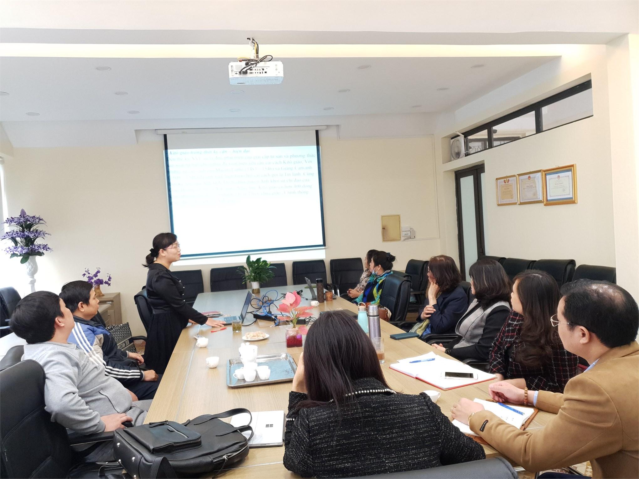 Thảo luận chuyên đề chuyên sâu: Đạo công giáo và ảnh hưởng của nó đến xã hội Việt Nam; Vấn đề con người và phát triển con người trong học thuyết Mác-Lênin