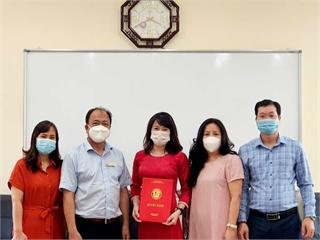 TS Phạm Thị Thu Hương được giao nhiệm vụ Phó trưởng Khao Lý luận Chính trị - Pháp luật từ ngày 01/10/2021
